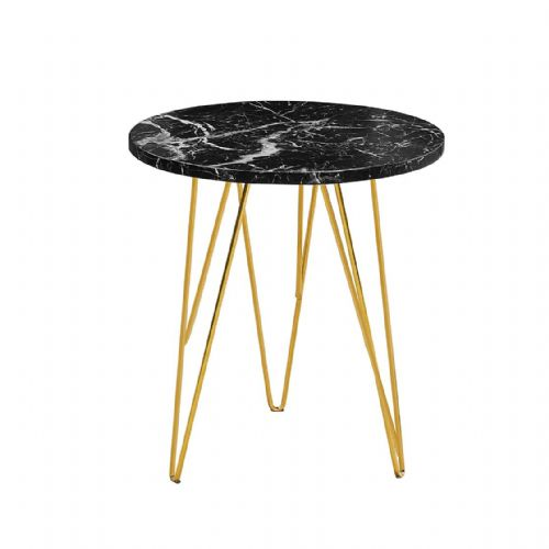 Lamp Table AXE 159 (Black Faux Marble) Effect  By Denelli